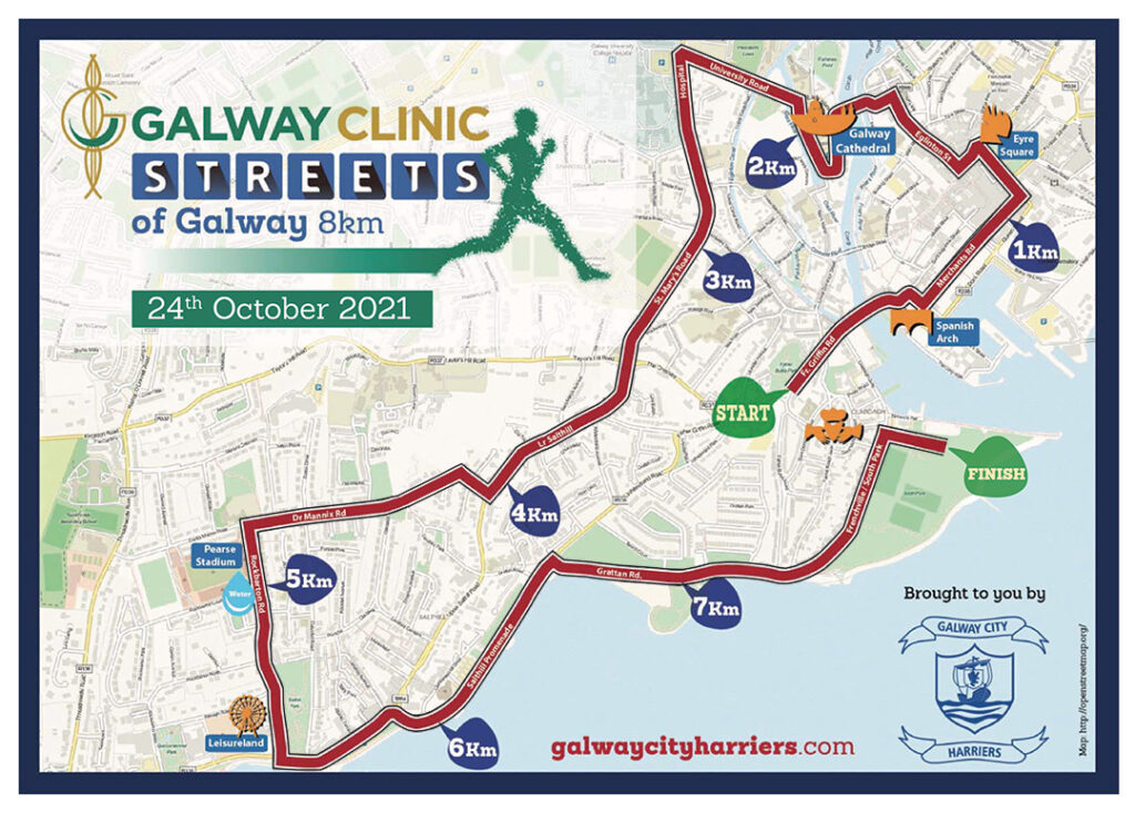 Streets of Galway Route Map